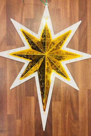 Natal Led Star Collection (Gold & White)