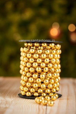 Metallic Gold Beaded Tree Chain Large
