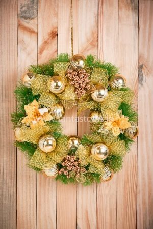 Large Gold wreath - 18""