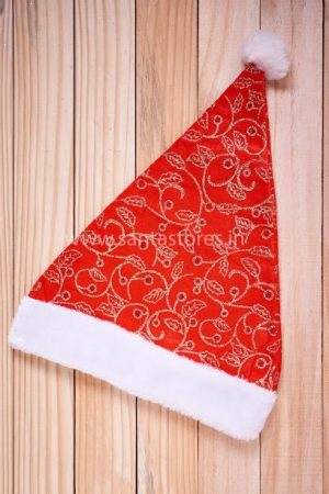 Rich Red Santa Claus Cap - Pack of 2