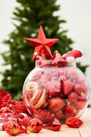 HallMark Tree Ornaments Jumbo Full Gift Set - Red(Suitable for Large Trees)