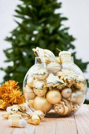 HallMark Tree Ornaments Jumbo Full Gift Set - Gold(Suitable for Large Trees)