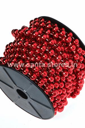 Metallic Red Beaded Tree Chain Medium