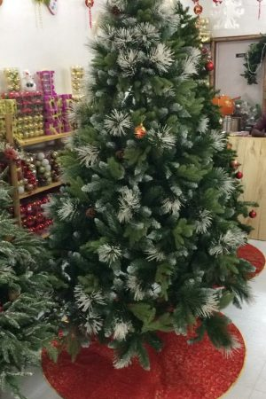 6 ft Woodbridge Fir Christmas Tree with berries and cones