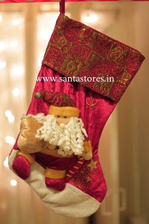 Snowfair Plush Santa Stocking