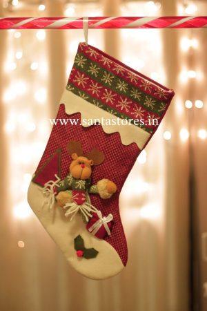 Snowfair Elf Stocking