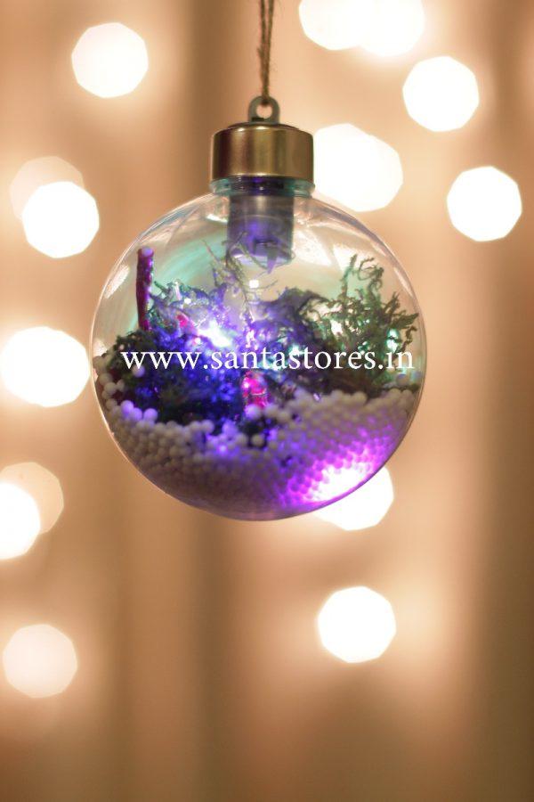 Christmas Decor Filled Luminary