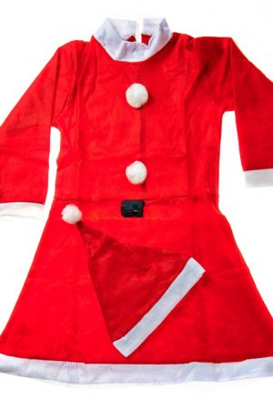Santa Girl Frock Standard - 9 -13 yrs