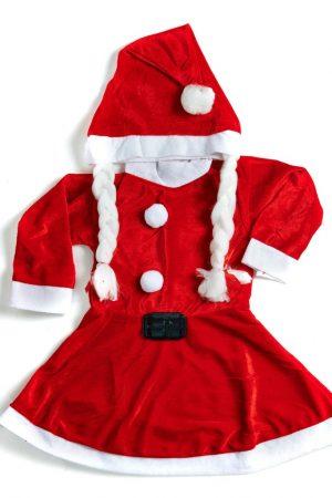 Santa Girl Frock Premium  1-3yrs