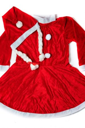 Santa Girl  Frock  Premium 6-8yrs
