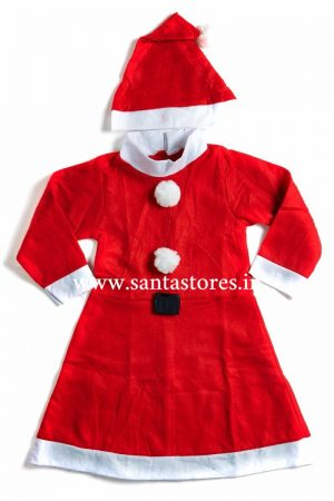 Santa Girl Frock Standard 7-9 yrs