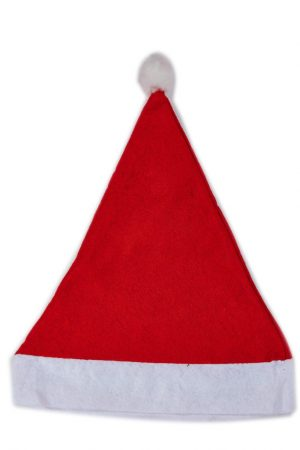 Red Santa Cap - Pack of 3
