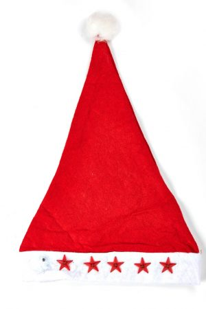 Santa Cap with Lights - Pack of 2