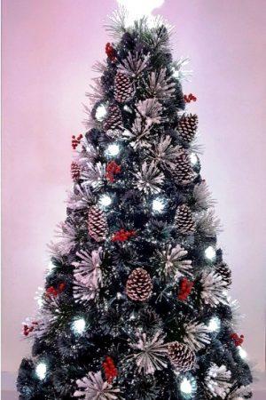5 ft Snowy LED Fibre Optic Christmas Tree