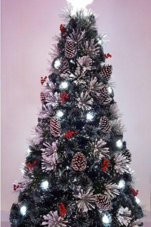6 ft Snowy LED Fibre Optic Christmas Tree